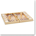 Aerin Croc Leather Backgammon Set, Fawn