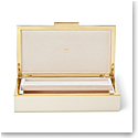 Aerin Shagreen Envelope Box, Cream