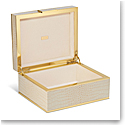 Aerin Classic Croc Small Jewelry Box, Fawn