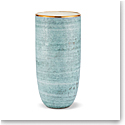 "Aerin Calinda 11"" Vase, Blue Grotto, Gold"