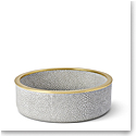 Aerin Shagreen Wine Coaster, Dove