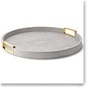 Aerin Carina Shagreen Large Round Tray, Dove