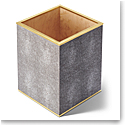Aerin Classic Shagreen Waste Basket, Chocolate