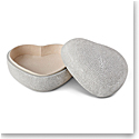 Aerin Shagreen Heart Box, Dove
