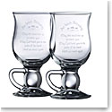 Galway Crystal Irish Blessing Latte, Pair
