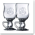 Galway Crystal Trinity Knot Shamrock Latte, Pair