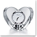Baccarat Heart Clear Clock
