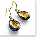 Baccarat Crystal Psydelic Wire Earrings 18 Kt Vermeil Gold Yellow Scarabee