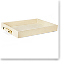 Aerin Classic Shagreen Serving Tray, Cream