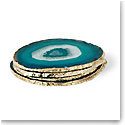 Aerin Agate Coasters, Green Set of Four