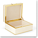 Aerin Classic Shagreen Small Jewelry Box, Cream