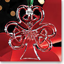 Cashs Ireland, 2018 Shamrock Christmas Crystal Ornament