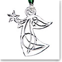Cashs Ireland, Angel with Star 2018 Crystal Ornament