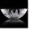 "Cashs Ireland Crystal Art Collection, Rocking Santa 14"" Bowl"