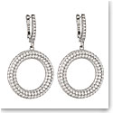 Cashs Ireland, Clarice Hoop Pierced Circle Earrings, Sterling Silver Pave