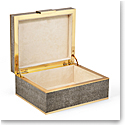 Aerin Classic Shagreen Small Jewelry Box, Chocolate