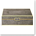 Aerin Classic Shagreen Large Jewelry Box, Chocolate