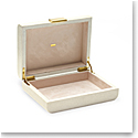 Aerin Modern Shagreen Small Jewelry Box, Cream