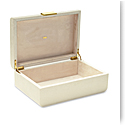Aerin Modern Shagreen Large Jewelry Box, Cream