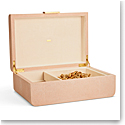 Aerin Modern Shagreen Large Jewelry Box, Blush