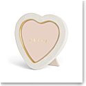 Aerin Shagreen Heart Frame, Cream