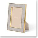 "Aerin Classic Shagreen Frame, Dove 4x6"""
