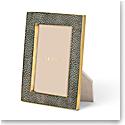 "Aerin Classic Shagreen Frame, Chocolate 4x6"""