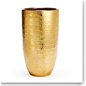 "Aerin Textured Gold 12"" Vase"