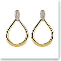 Cashs Ireland, Donna Gold and Crystal Teardrop Pierced Earrings