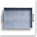 Aerin Classic Shagreen Serving Tray, Blue