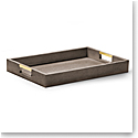 Aerin Modern Shagreen Desk Tray, Chocolate
