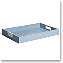 Aerin Modern Shagreen Desk Tray, Blue