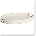 Aerin Modern Shagreen Cocktail Tray, Cream