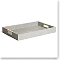 Aerin Modern Shagreen Desk Tray, Dove