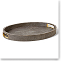 Aerin Modern Shagreen Cocktail Tray, Chocolate