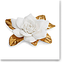Aerin Porcelain Gilded Gardenia Flower Sculpture