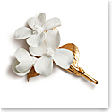 Aerin Porcelain Gilded Dogwood Flower Sculpture