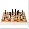 Aerin Shagreen Chess Set, Cream