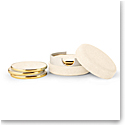 Aerin Shagreen Coasters, Cream Set of Four