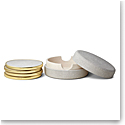 Aerin Shagreen Coasters, Dove Set of Four