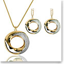 Cashs Ireland Bond 18k Gold Pendant Necklace and Earrings Gift Set