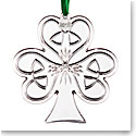 Cashs Ireland, 2019 Shamrock Christmas Crystal Ornament
