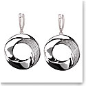 Cashs Ireland Bond Silver and Crystal Earrings, Pair