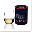 Riedel O Stemless, to Go White Crystal Wine Glass, Single