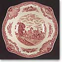 Johnson Brothers Old Britain Castles Pink Vegetable Bowl Round 8.5""