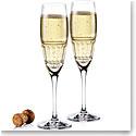 Cashs Ireland Dunloe Champagne Toasting Flutes, Pair
