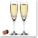 Cashs Ireland Annestown Champagne Toasting Flutes, Pair