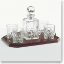 Galway Crystal Longford Square Decanter Tray Set