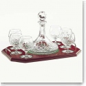 Galway Crystal Longford Brandy Decanter Tray Set