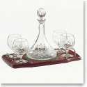 Galway Crystal Longford Miniature Brandy Decanter Tray Set